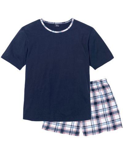 Темно-синяя пижама квадратная Bonprix