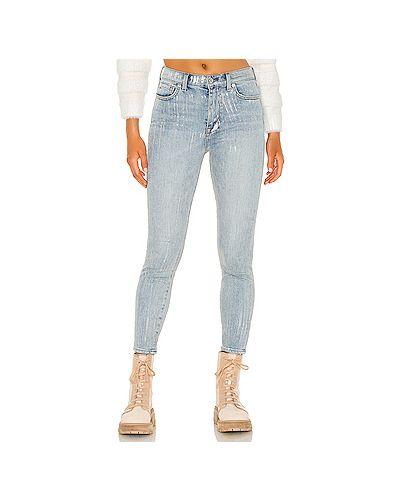 Синие джинсы-скинни с карманами на молнии 7 For All Mankind