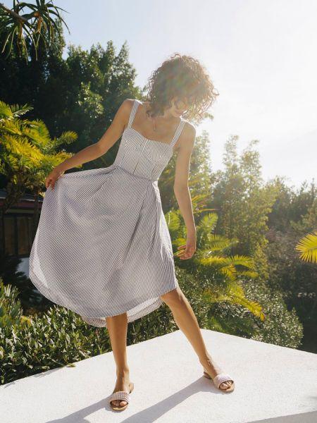 Хлопковое платье - белое Kendall + Kylie