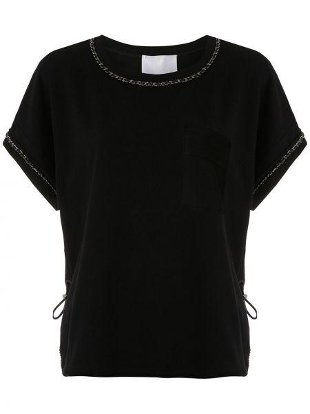 Блузка прямая черная Andrea Bogosian