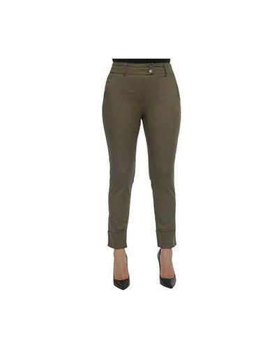 Зеленые укороченные брюки Ferrante