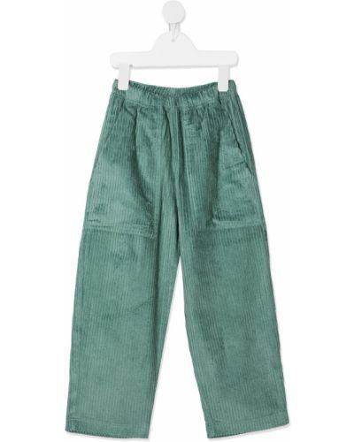 Прямые фиолетовые брюки с поясом вельветовые Raspberry Plum