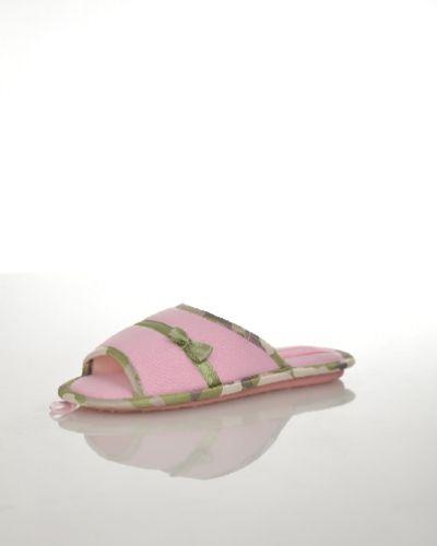 Домашние тапочки на каблуке розовый De Fonseca