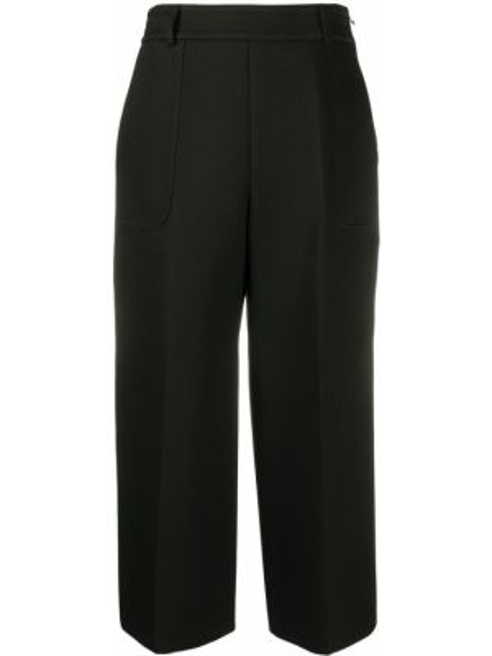 Черные свободные брюки с карманами Mulberry