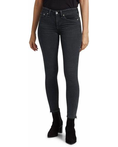 Niebieskie jeansy rurki bawełniane casual Rag & Bone