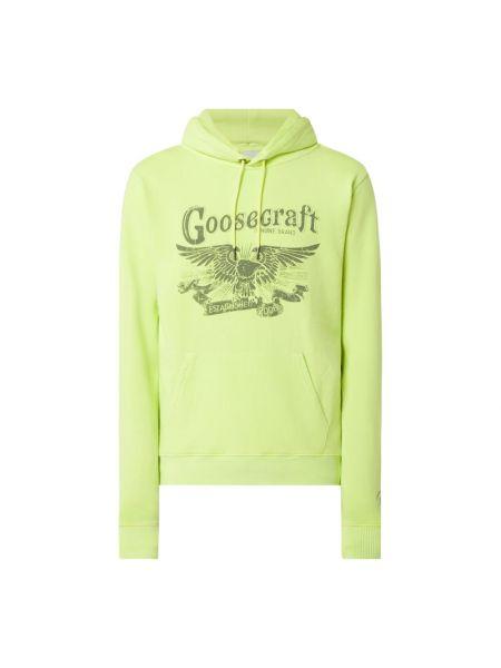 Żółta bluza z kapturem bawełniana Goosecraft