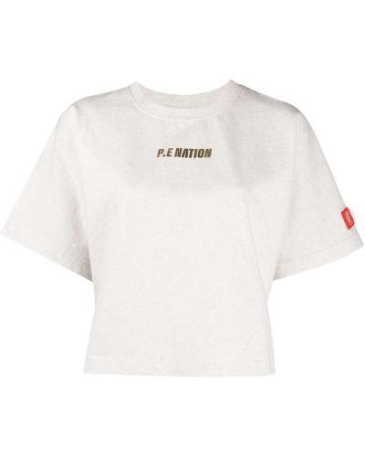 T-shirt bawełniany z printem krótki rękaw P.e Nation