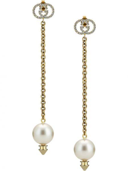 Kolczyki pierścionki kolczyki ze sztyftem z perłami Gucci
