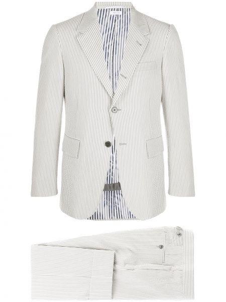Z kaszmiru biały garnitur Thom Browne