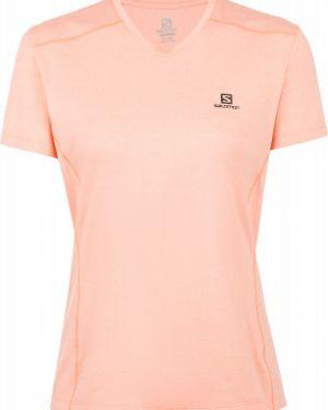 Облегченная футбольная розовая прямая спортивная футболка Salomon