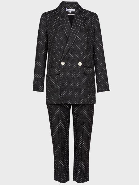 Костюмный черный костюм из вискозы Elliatt