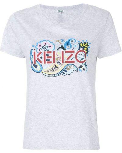 Серая футболка с логотипом Kenzo