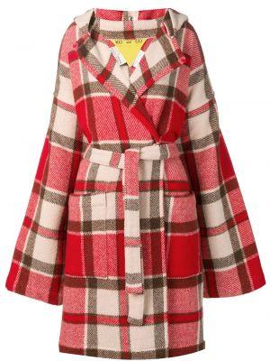 Красное шерстяное длинное пальто с капюшоном Jc De Castelbajac Pre-owned