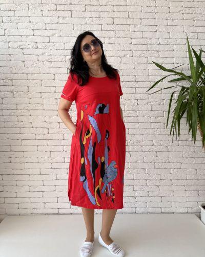 Платье миди - красное Eternal Flame
