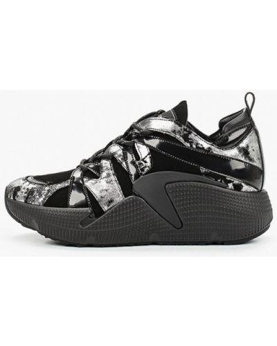 Черные кроссовки из натуральной кожи Pierre Cardin