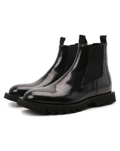 Черные кожаные полусапожки Attimonelli's