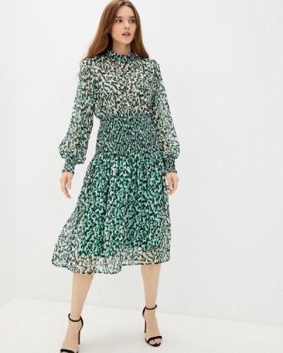 Зеленое платье осеннее Zibi London