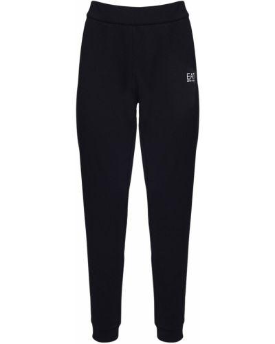 Велюровые спортивные брюки эластичные Ea7 Emporio Armani