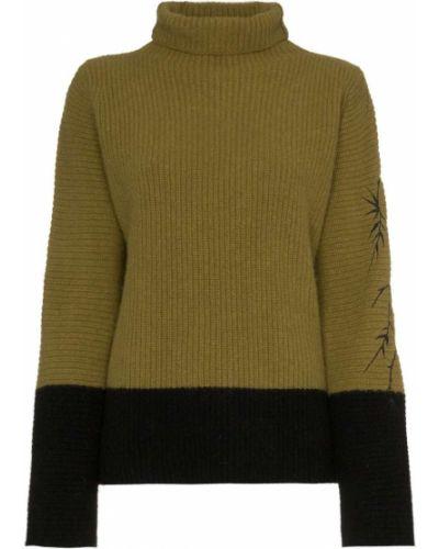 Зеленый шерстяной свитер Haider Ackermann