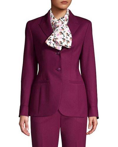 С рукавами малиновый удлиненный пиджак с карманами Escada