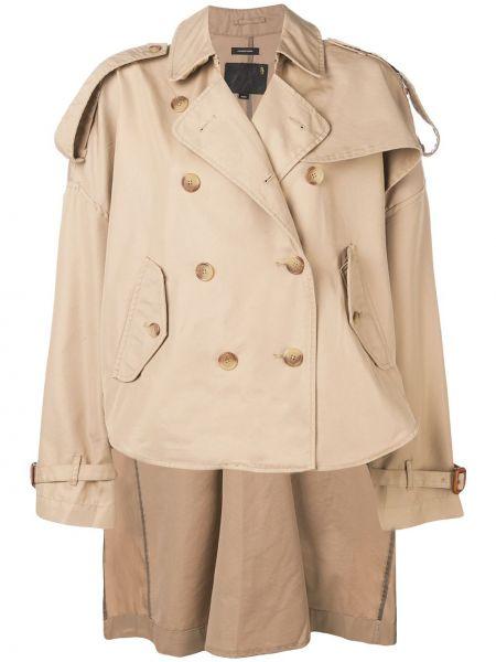 Короткая куртка милитари двубортная с воротником R13