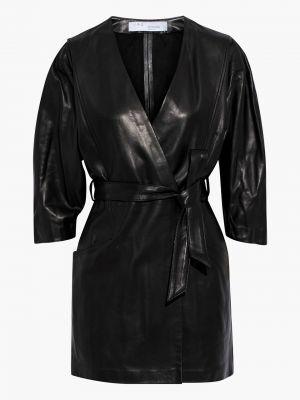 Кожаное платье мини - черное Iro