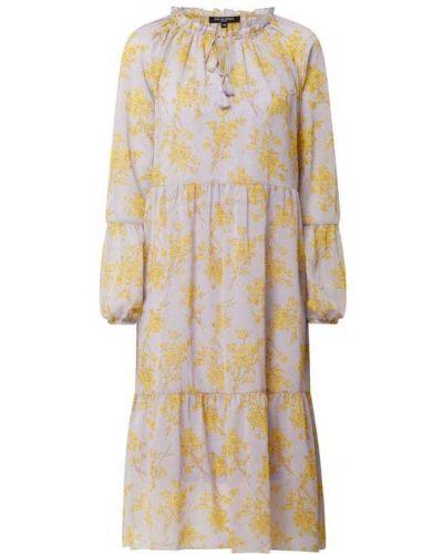Sukienka rozkloszowana z falbanami - fioletowa Ilse Jacobsen