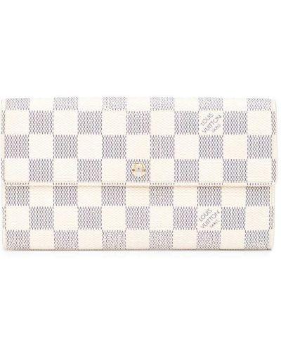Biały złoty portfel Louis Vuitton
