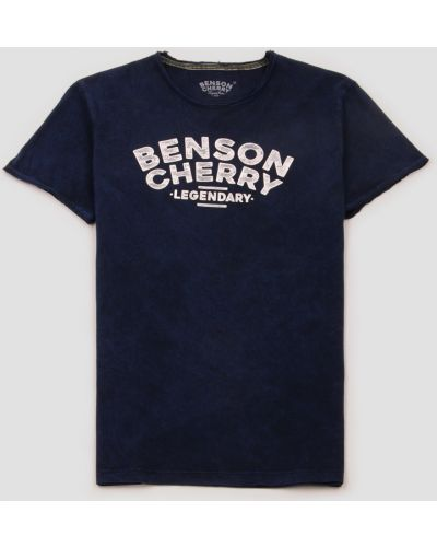 Футболка с надписью - синяя Benson & Cherry