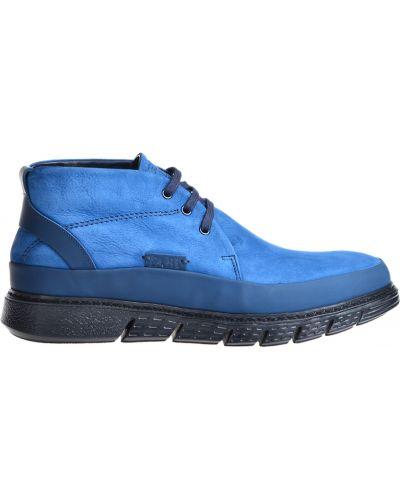Синие ботинки из нубука Fabi