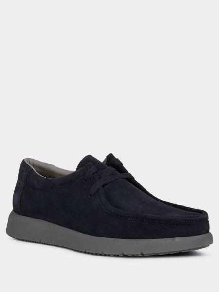 Синие замшевые полуботинки на шнуровке Geox