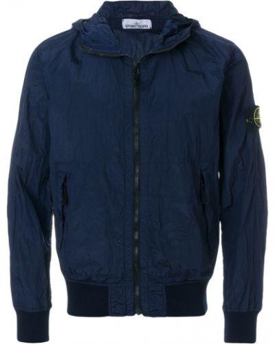 Длинная куртка с капюшоном милитари Stone Island
