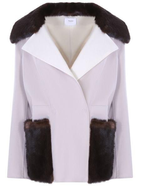 Шерстяное пальто - белое Agnona