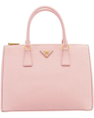Кожаный сумка на руку с тиснением Prada