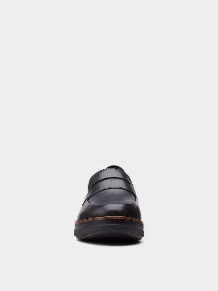 Черные текстильные лоферы Clarks