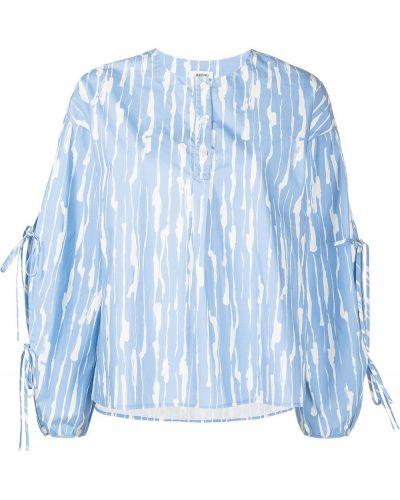 Блузка с принтом - синяя Jason Wu