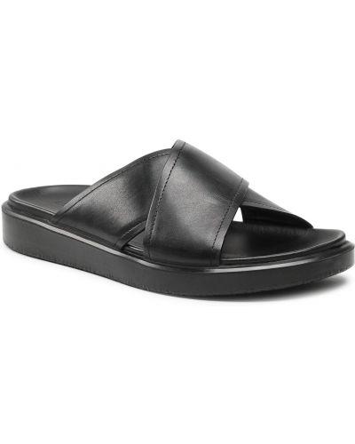 Czarne sandały na lato Ecco