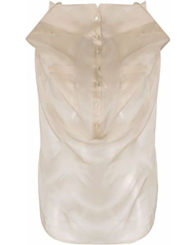 Рубашка прозрачная с разрезом Balossa White Shirt