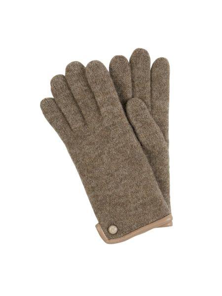 Beżowe rękawiczki wełniane Roeckl