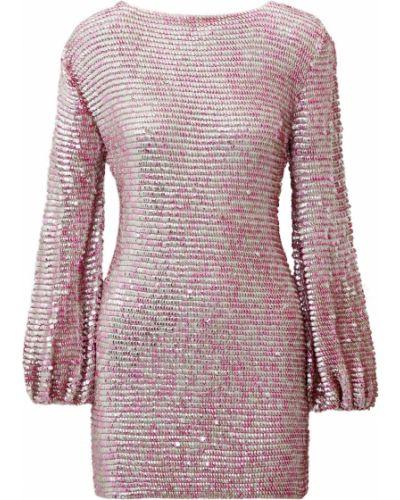 Платье мини с пайетками - розовое Retrofete