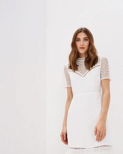 Белое платье весеннее Warehouse
