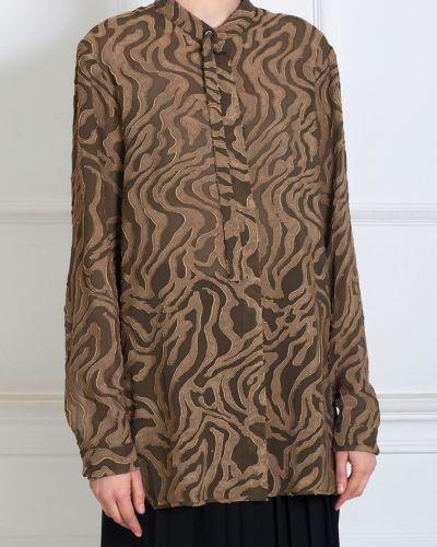 Шелковая блузка - коричневая Damir Doma