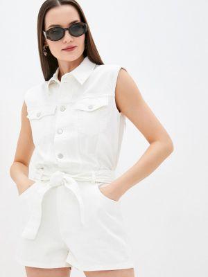 Белый комбинезон с шортами Love Republic