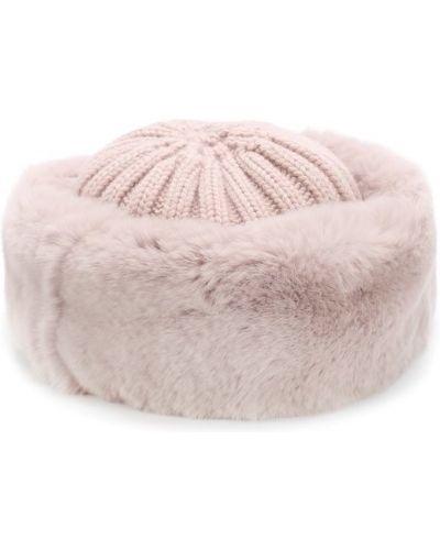 Вязаная шапка с мехом из кролика Nima
