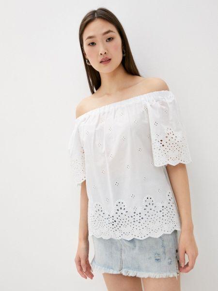 Белая блузка с открытыми плечами Blugirl Folies