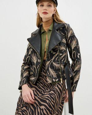 Кожаная куртка черная осенняя Ksenia Knyazeva