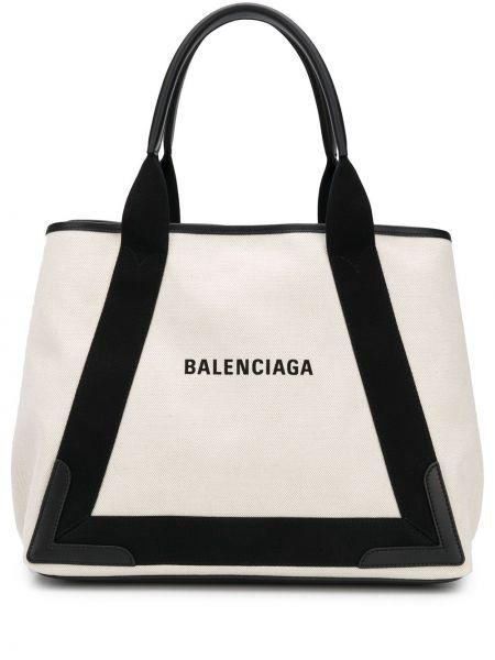 Текстильная сумка-тоут со вставками Balenciaga