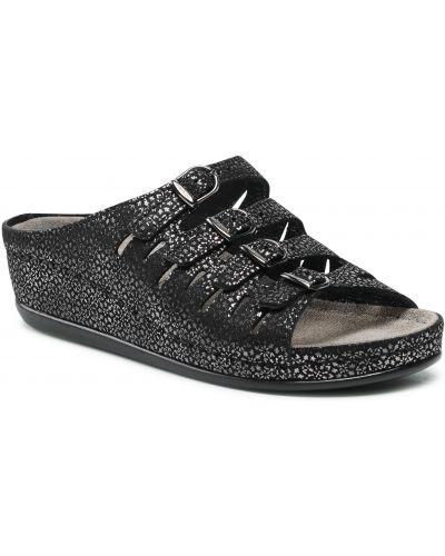 Czarne sandały casual Berkemann