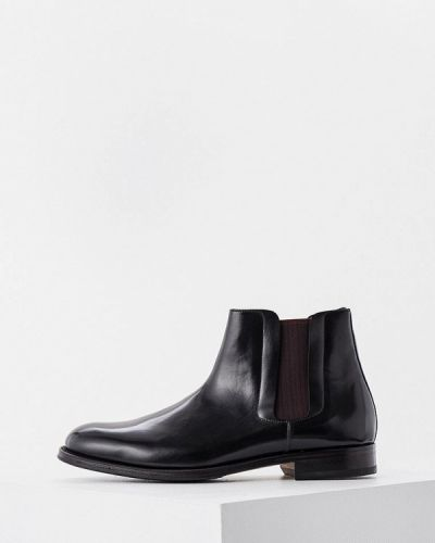 Кожаные ботинки челси - черные Pollini