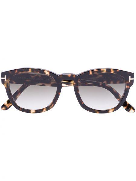 Akryl brązowy okulary przeciwsłoneczne okrągły Tom Ford